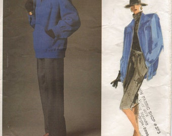 80s Givenchy Womens Lined Below Hip Jacket, Straight Skirt & Pants Vogue Paris Original Sewing Pattern 1787 Size 10 Bust 32 1/2
