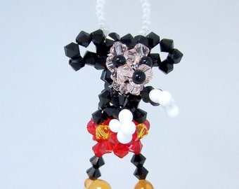 Mickey Mouse in Swarovski Crystal Beads
