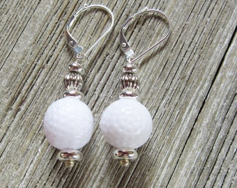 Golf earrings - Golfball earrings - golf jewelry - golf ball - to wear while you putt around - fun novelty not to tee you off