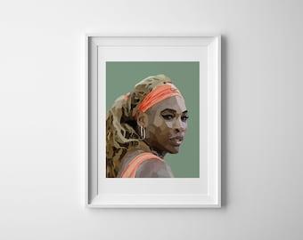 Geometric Serena Williams Wall art- INSTANT DOWNLOAD