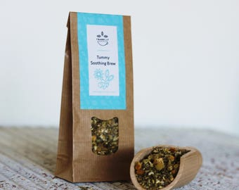 Tummy Soothing Brew teabelly Organic Artisan Herbal Tea Tisane Infusion