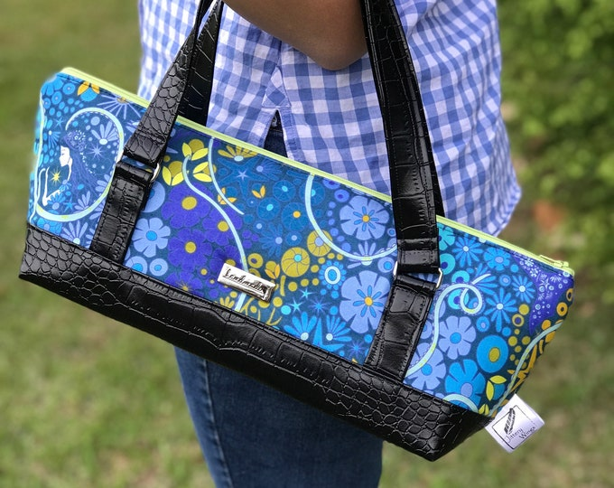 The Gondola Bag ~ Blue with Mermaids
