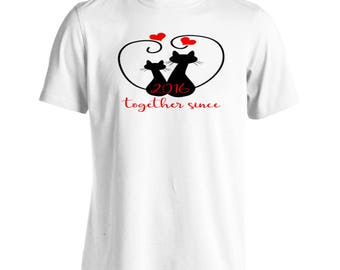 Cats We Love Together Since 2016 Men's T-Shirt f236m