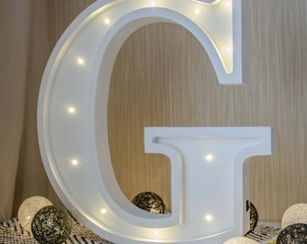 BIG Marquee letter Marquee light Christmas gift Gift for her Gift for him Letter G Personalized Gift Night light Lamp Baby shower gift