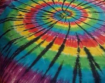 Rainbow swirl with Black