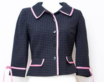 Adorable Laura Leigh LTD adorable pink and black jacket