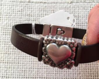 Fashionable leather bracelet, handmade