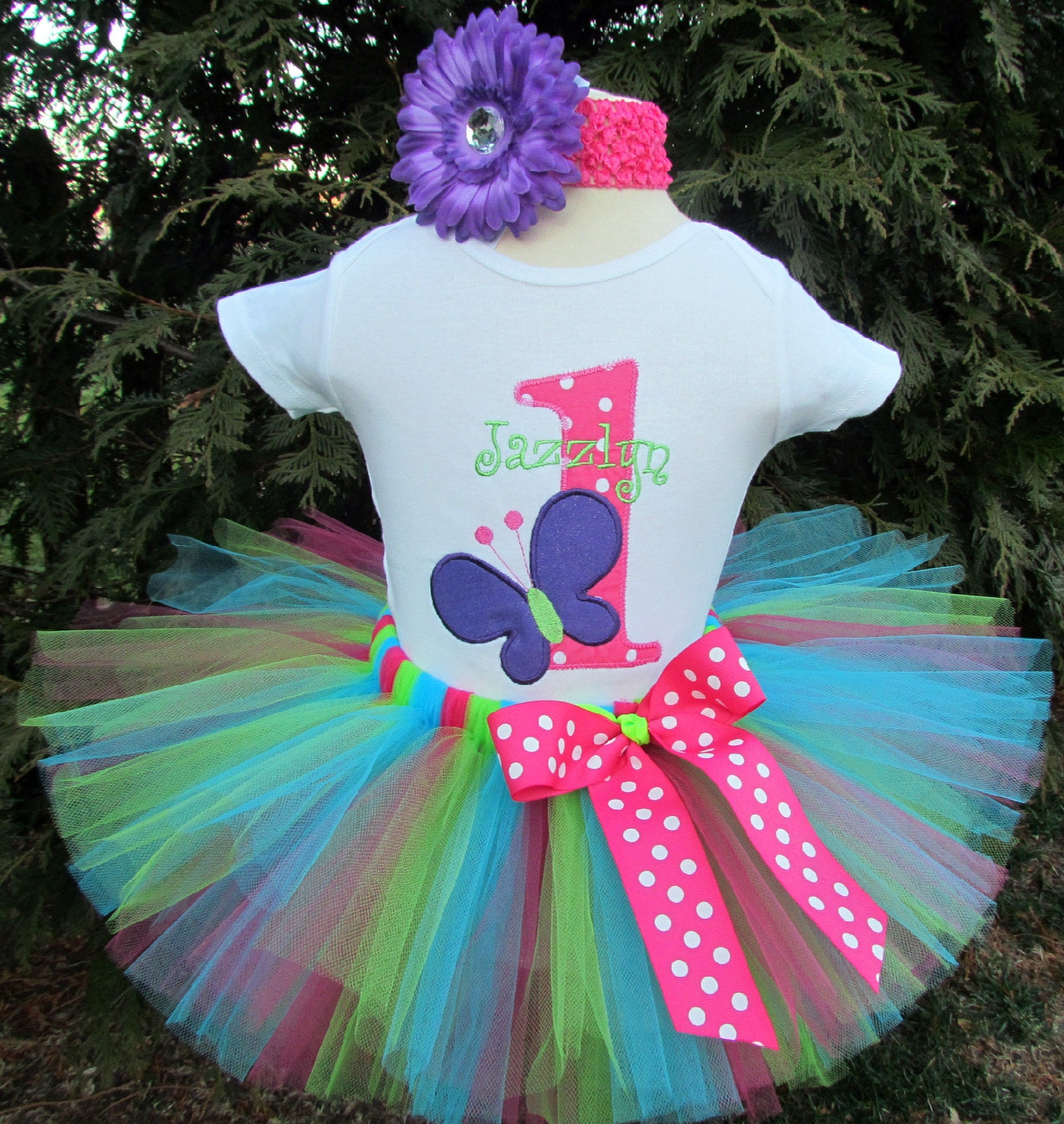Butterfly 1st Birthday Outfit First Birthday Tutu Dress Baby