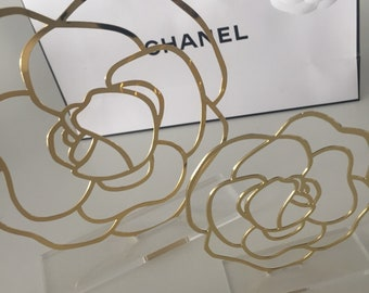 Chanel camelia set of two displays