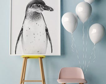 Nursery Decor, Nursery Wall Art, Printable Wall Art, Kids Wall Art, Animal Prints, Penguin Prints, Baby Room, Penguin Poster, Baby Animal