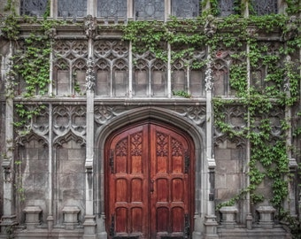 Chicago Photography- Bond Chapel at University of Chicago, Door Art, Architecture Print 8x8, 20x20 Chicago University, Old Chicago Wall Art