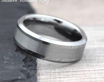 Mens Engrave Wedding Band, 8mm Tungsten Wedding Band Mens, Tungsten Wedding Ring, Mens Wedding Band, Ring for Him, Mens Engagement Ring