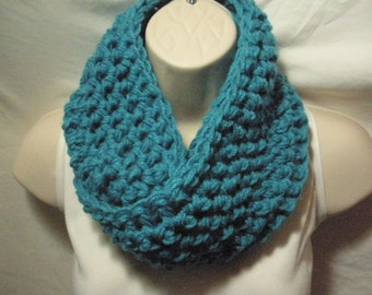 Dark Turquoise Cowl Infinity Circle Scarf Neckwarmer