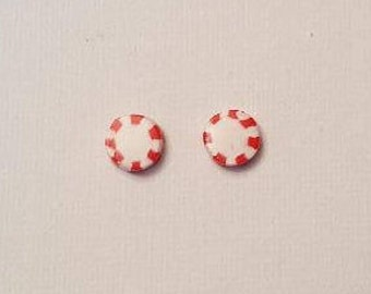 Peppermint Stud Earrings