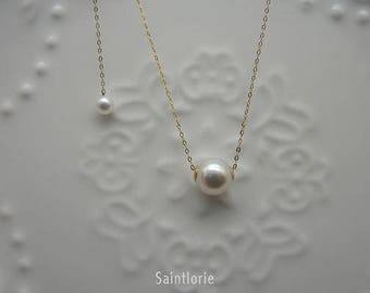8-8.5mm Akoya Pearl Necklace Pearl Charm Pearl Pendant Akoya Charm Akoya Necklace Akoya Pendant