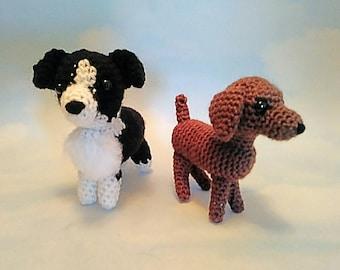 Crochet Dogs | Amigurumi | Border Collie | German Shorthair | Plush | Stuffed Animal