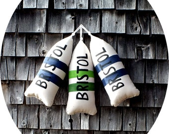Maine Lobster Buoy Pillow. Buoy. Buoy pillow.housewarming gift.nautical wedding pillow.Beach house gift. maine toss pillow.beach pillow.