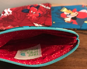 Child wallet, kid wallet, child coin purse, kid coin purse, money holder, zip pouch, boy wallet, girl wallet, kid gift, child gift, tiny bag