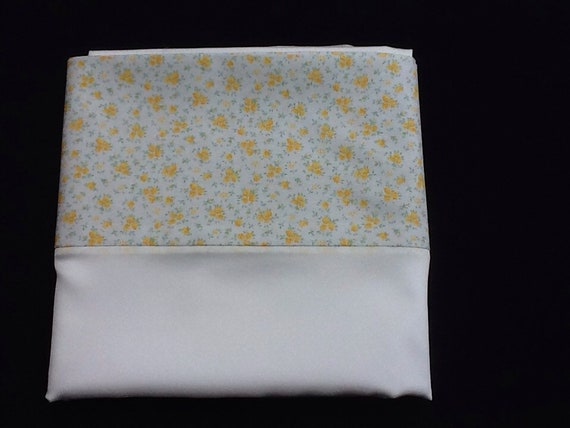 White Mulberry Silk pillowcase with lemon flower trim (pair)