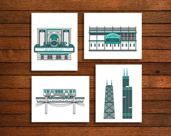 Chicago - Wrigley, Theater, Towers, L