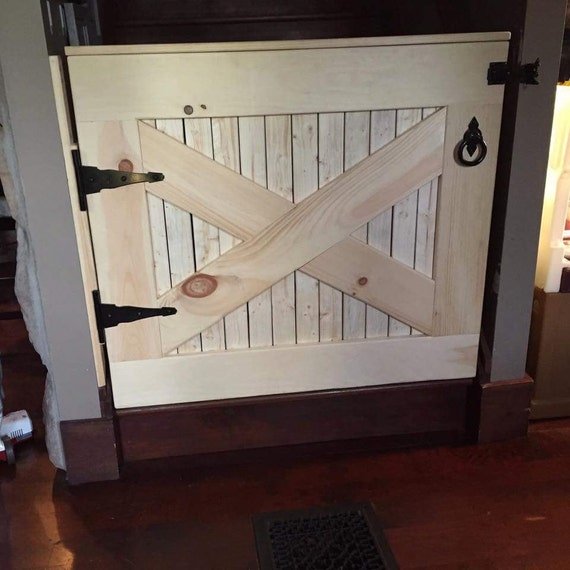 Half-Door Gate with Safety Latch - Dog Gate - Safety Gate - Dutch Door - Two Sided from JBremmerJoinery on Etsy Studio & Half-Door Gate with Safety Latch - Dog Gate - Safety Gate - Dutch ...
