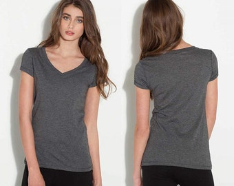 Women's V-Neck T-shirt - Custom Colors for Any Design in Our Shop - Ladies Vneck