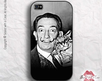 Salvador Dali Portrait with Ocelot - iPhone 4/4S 5/5S/5C/6/6+ and now iPhone 7 cases!! And Samsung Galaxy S3/S4/S5/S6/S7