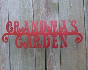 Grandma's Garden Stake, garden stake, yard art, custom garden stake, metal garden stake, metal garden art