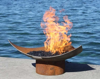 The Isosceles Modern Sculptural Firebowl