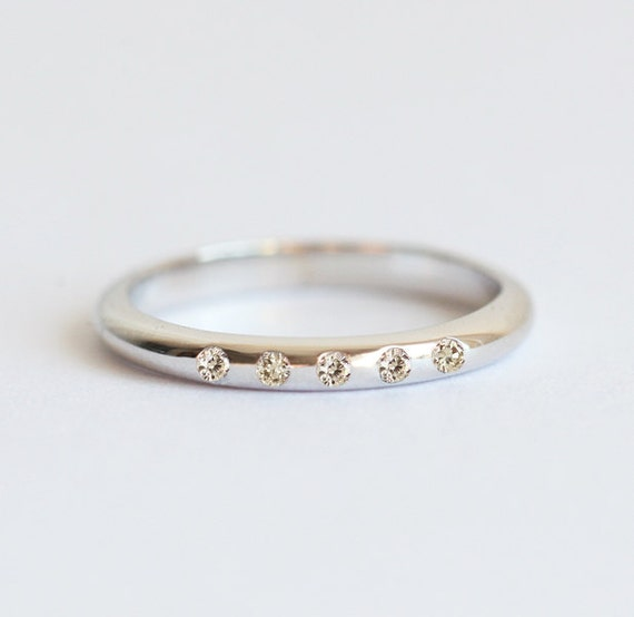 Champagne Diamond Ring Champagne Diamond Band Champagne