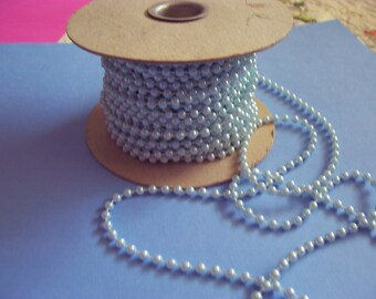 Two (2) Yards BABY BLUE Trim Beads    4mm   (F)
