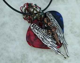 Guitar Pick Necklace  - AngeL of DeaTh