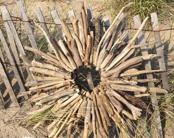 "Driftwood Decor, 30"" Driftwood Wreath, Driftwood Wall Hanging, Driftwood Wall Art, Driftwood Beach Decor, Beach Decor, Nautical Decor"
