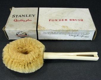 Vtg 1950s Stanley 125 Powder Brush Original Box