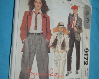 McCalls 9172  Misses Jacket and Pants Sewing Pattern - UNCUT - Size 8 Brooke Sheilds Sewing Pattern