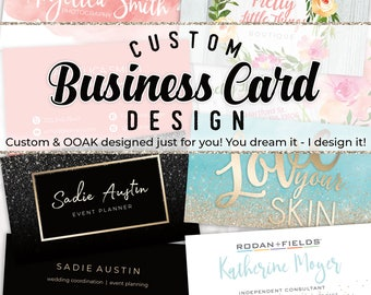 Custom Business Card Design, Personalized Business Card, Custom Graphic Design, Photography Business Card, OOAK Business Card, Digital File