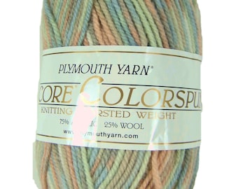 Plymouth Colorspun, Encore yarn, worsted weight, pastel shades, destashed, discontinued yarn, acrylic wool blend, machine wash, knitting