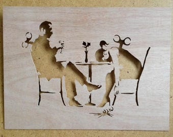 Banksy Clockwork Lovers Stencil