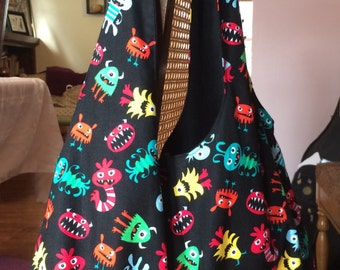 Happy Silly Monster Bag with Pockets