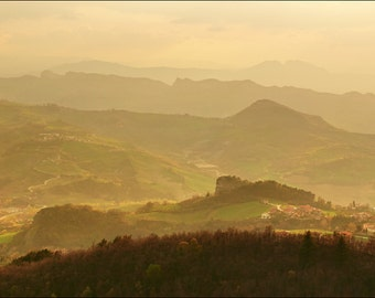Republic of San Marino - Italy - Hills of San Marino - Color Photo Print - Fine Art Photography (ITSM20)