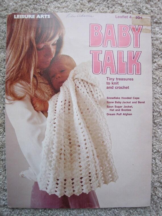 Crochet y punto folleto Baby Talk ocio artes folleto 4