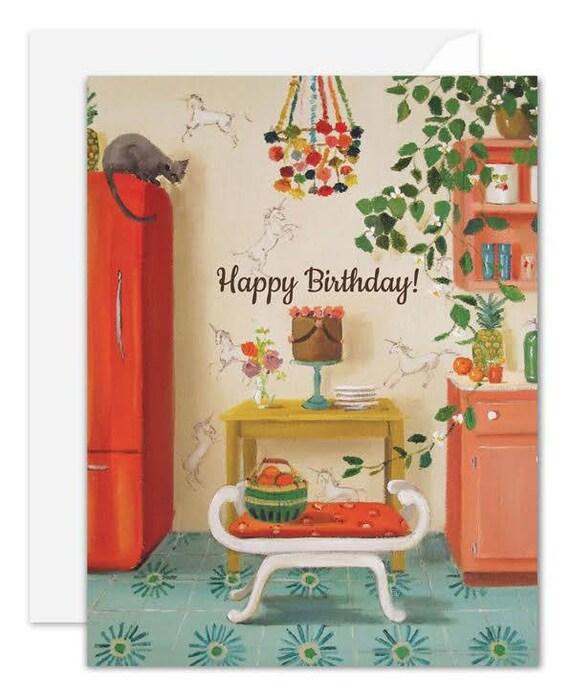 Unicorns. Birthday Card. SKU JH1136