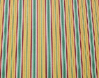 "LAMINATED Cotton  - Gold Stripes, 56"" Wide, BPA & PVC Free"