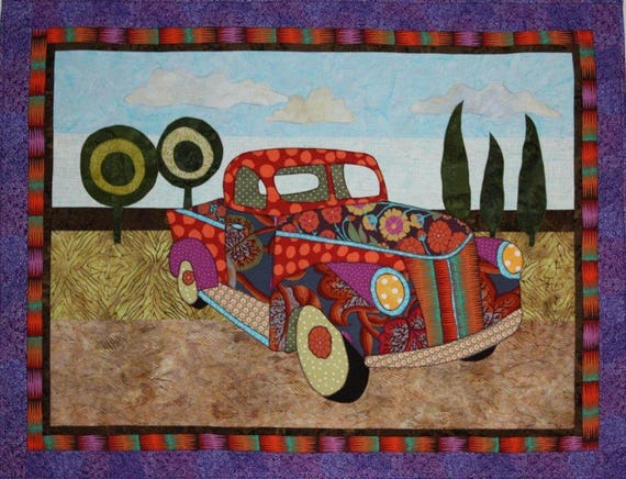 Bj Designs Amp Patterns Papas Pickup Applique Quilt Pattern