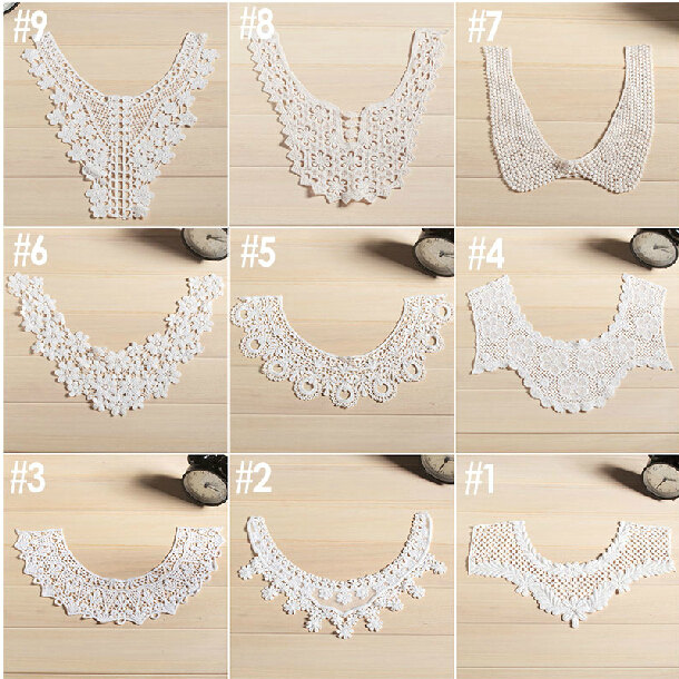 Cotton Collar 9styles for choosecotton Applique white
