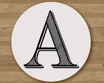 Personalised Letter Mousepad Mouse Pad Office Desk Accessories Gift