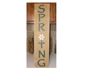 SPRING wood sign,DAISY,Spring Flower,porch patio signs,home decor,wood porch sign