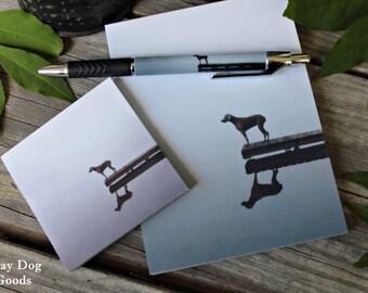 Weimaraner Stationery Set, Dog Stationery, Weimaraner Gift Set, Dock Dog, Dog Notepad