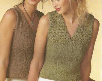 Instant Download - PDF- Vintage V Top Crochet Pattern (K34)
