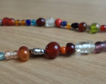 Colorful glass beads, necklace, pearls, colors